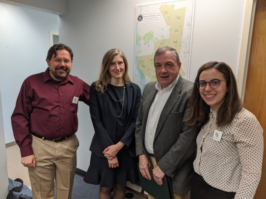 Meeting with State Senator Pete Harckham in December 2019.